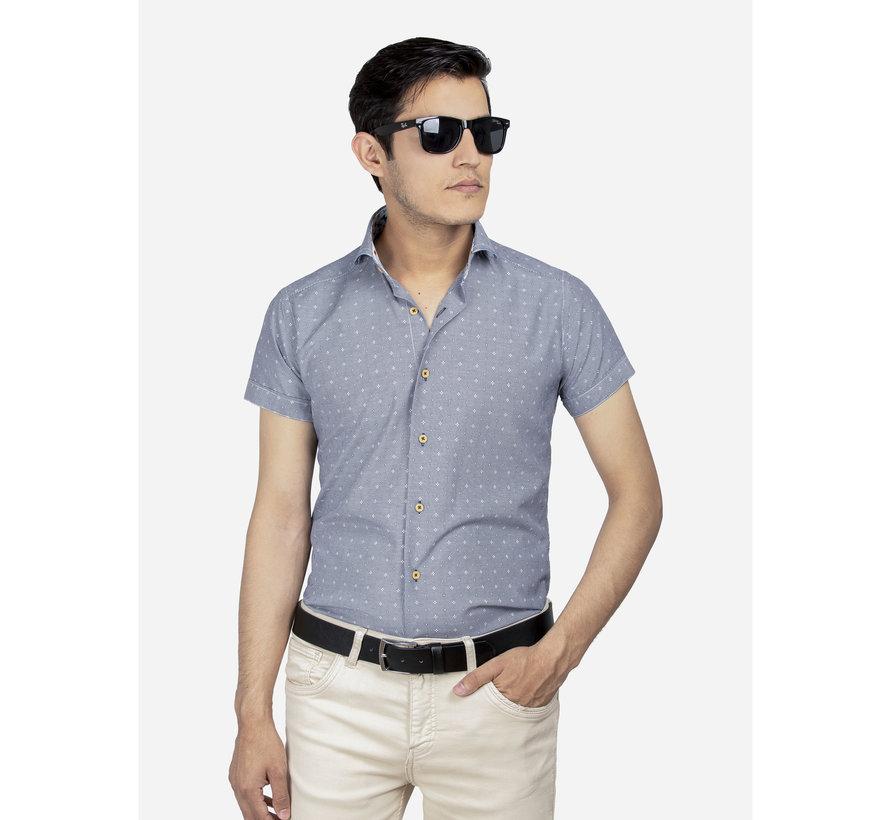 Shirt Short Sleeve 65037 Olbia Royal Blue