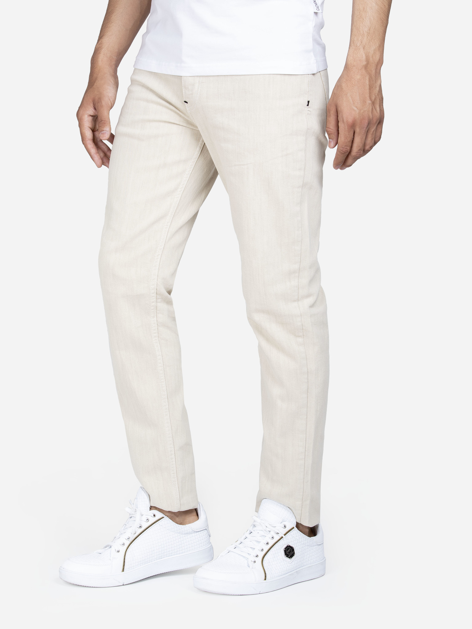 Gaznawi Jeans 68060 Beige L34 Maat: 40/34
