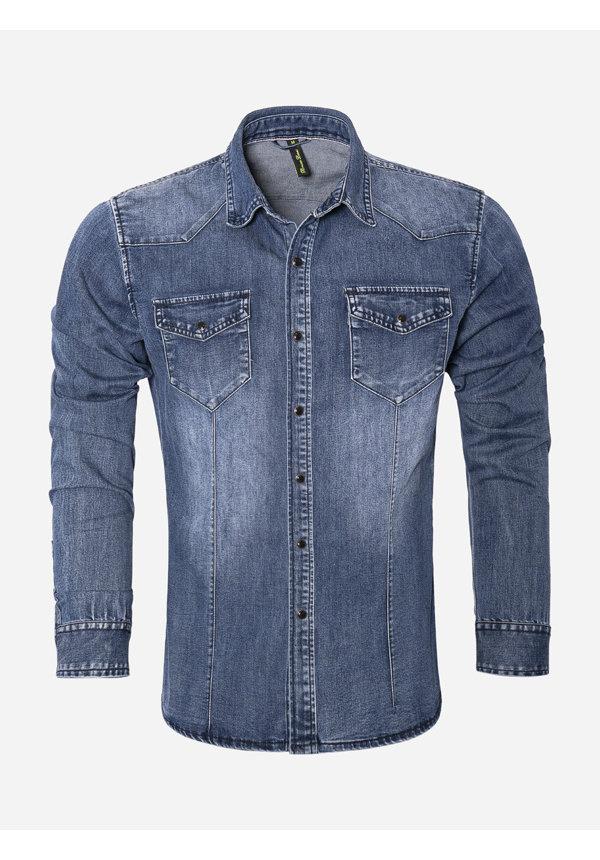 Overhemd Lange Mouw CA628 Blue