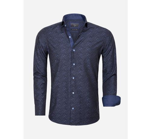 Gaznawi Overhemd Lange Mouw 65029 Dark Navy