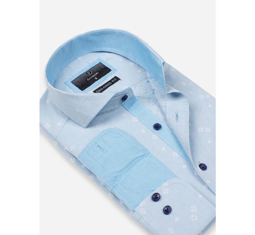 Overhemd Lange Mouw 65029 Forli Light Turquoise