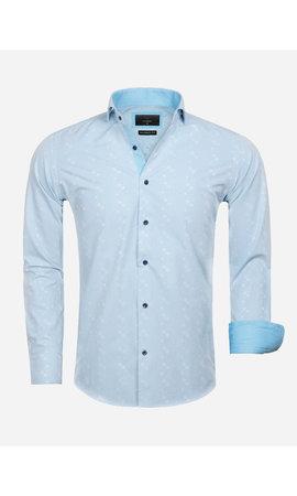 Gaznawi Overhemd Lange Mouw 65029 Forli Light Turquoise