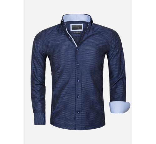 Gaznawi Overhemd Lange Mouw 65031 Cosenza Dark Navy