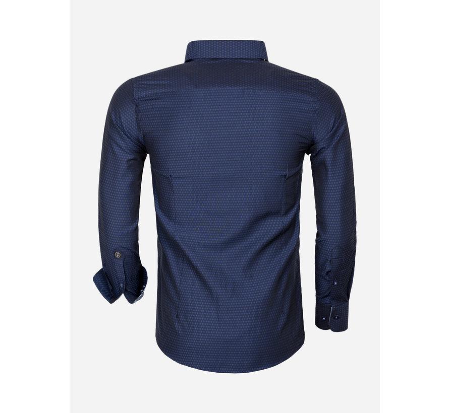 Overhemd Lange Mouw 65031 Cosenza Dark Navy