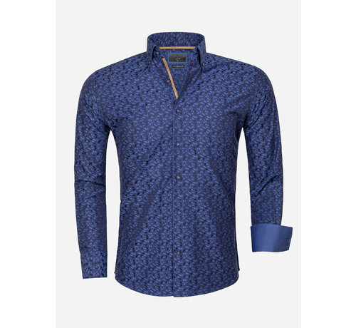 Gaznawi Overhemd Lange Mouw 65034 Dark Navy