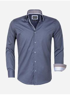 Wam Denim Overhemd Lange Mouw 75559 Isernia Anthracite