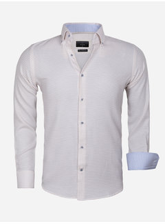Gaznawi Overhemd Lange Mouw 65021 Ancona Beige
