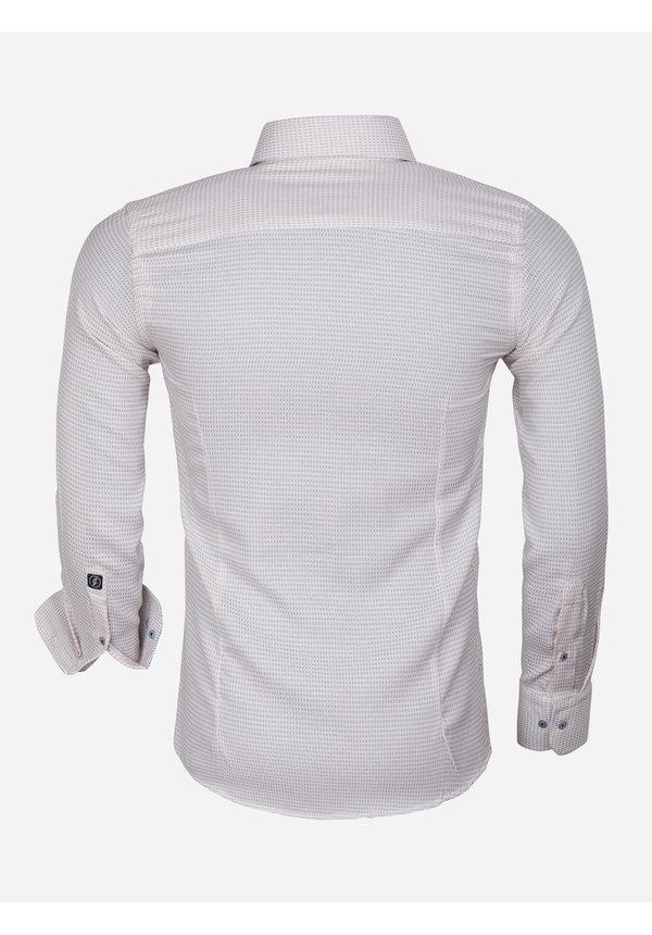 Overhemd Lange Mouw 65021 Ancona Beige