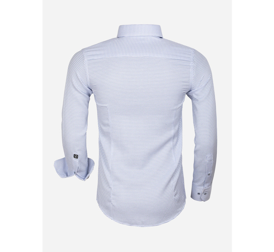Overhemd Lange Mouw 65021 Ancona Blue