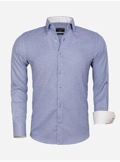 Gaznawi Overhemd Lange Mouw 65021 Ancona Navy
