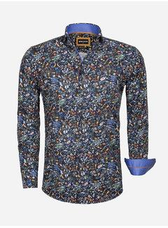Wam Denim Overhemd Lange Mouw 75539 Navy