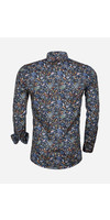 Overhemd Lange Mouw 75539 Navy