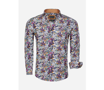 Wam Denim Shirt Long Sleeve 75560 Pisa Dark Navy Peru