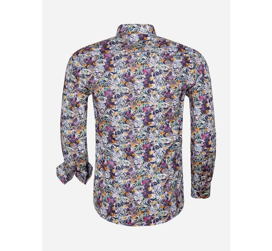 Overhemd Lange Mouw 75560 Pisa Dark Navy Peru