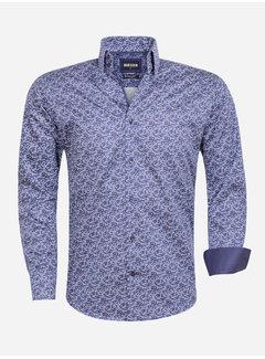 Wam Denim Shirt Long Sleeve 75561 Nuono Navy Dark Red