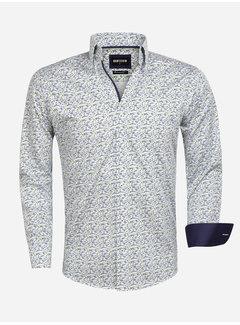 Wam Denim Shirt Long Sleeve 75561 Nuono White Green
