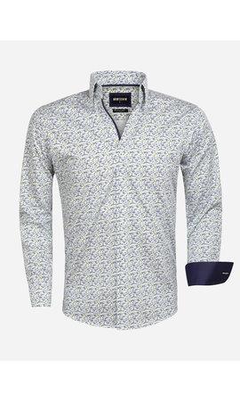 Wam Denim Overhemd Lange Mouw 75561 Nuono White Green