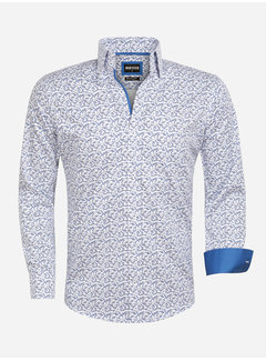 Wam Denim Overhemd Lange Mouw 75561 White Royal Blue