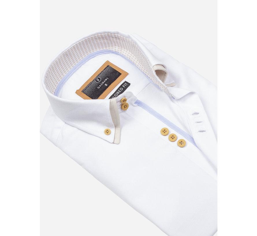 Overhemd Lange Mouw 65023 L'Aquila White