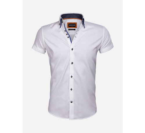 Wam Denim Overhemd Korte Mouw 75557 White