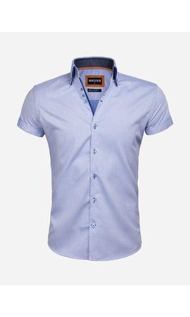Wam Denim Overhemd Korte Mouw 75557 Novara Blue