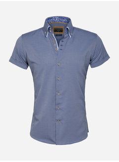 Gaznawi Shirt Short Sleeve 65018 Aeolian Dark Navy