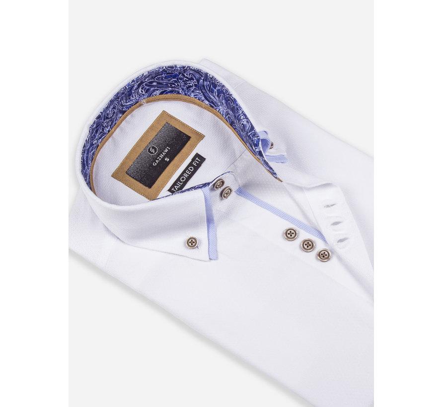 Overhemd Korte Mouw 65018 Aeolian White