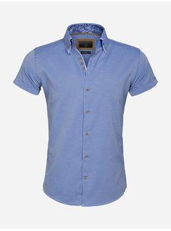 Gaznawi Shirt Short Sleeve 65018 Aeolian Royal Blue