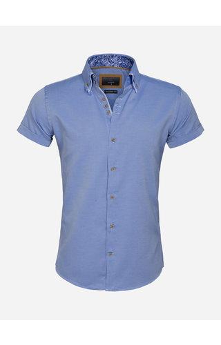Gaznawi Overhemd Korte Mouw 65018 Aeolian Royal Blue