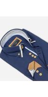 Overhemd Lange Mouw 65023 Dark Navy