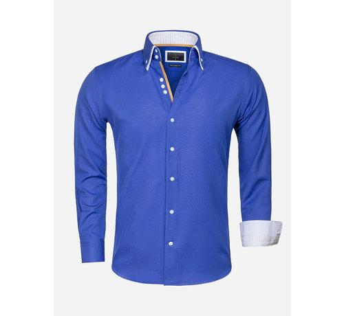 Gaznawi Overhemd Lange Mouw 65023 L'Aquila Light Navy