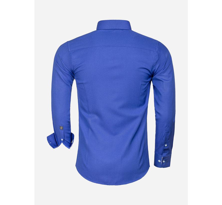 Overhemd Lange Mouw 65023 L'Aquila Light Navy