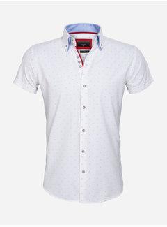 Gaznawi Overhemd Korte Mouw 65028 Cuneo White Red