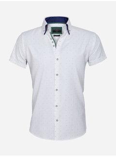 Gaznawi Overhemd Korte Mouw 65028 Cuneo White Green