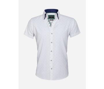 Gaznawi Shirt Short Sleeve 65028 Cuneo White Green