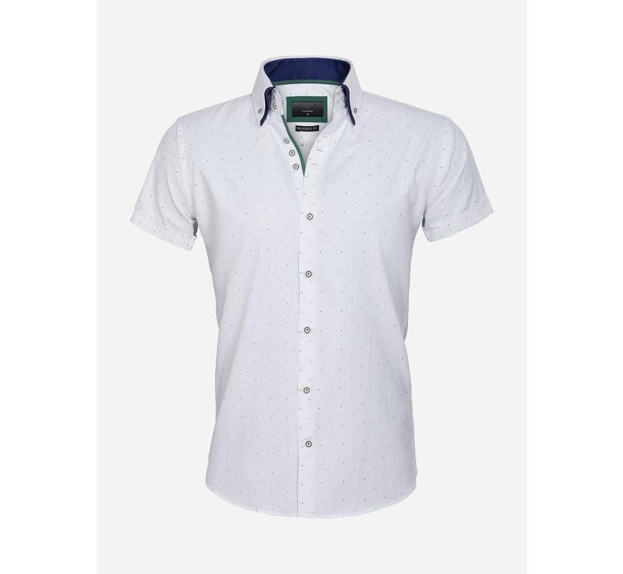 Overhemd Korte Mouw 65028 Cuneo White Green