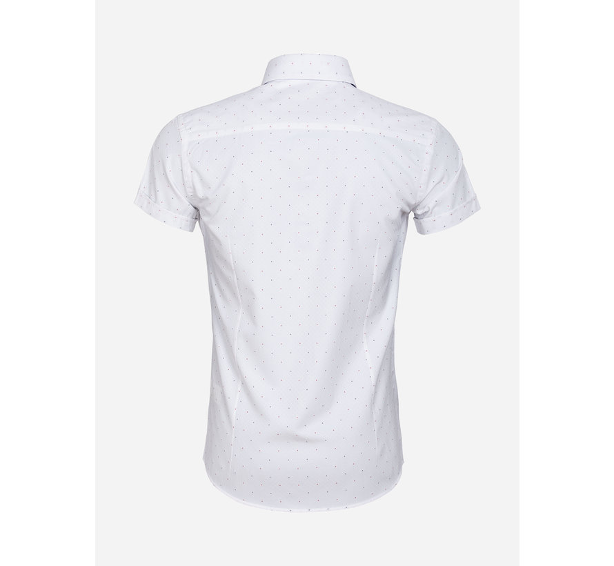 Overhemd Korte Mouw 65028 Cuneo White Red