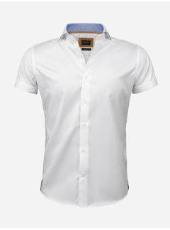Wam Denim Shirt Short Sleeve Flaes White