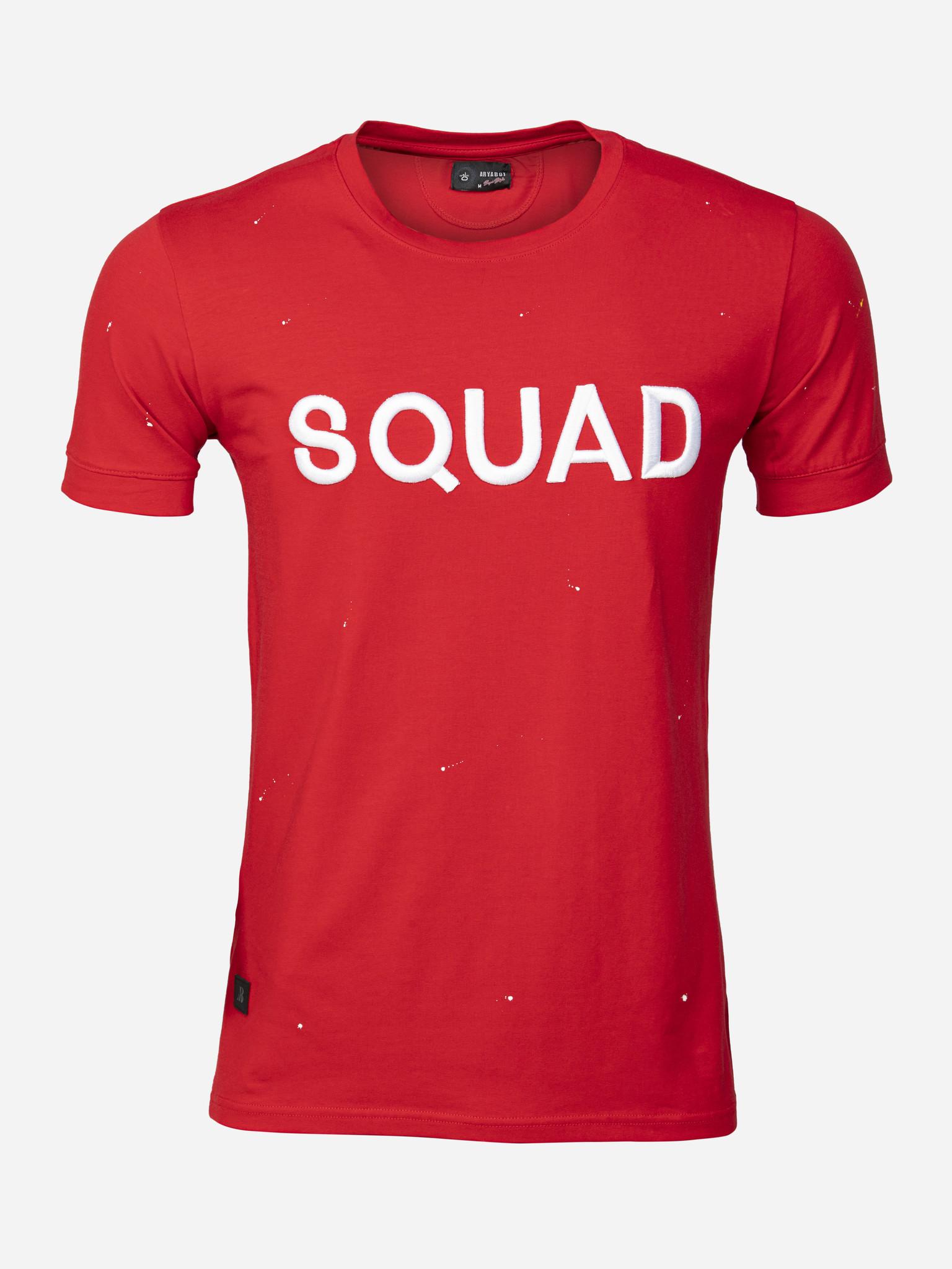 Wam Denim T-Shirt Boudry  Red Maat: L