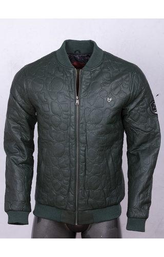 Wam Denim Leather Jacket 91003 Green