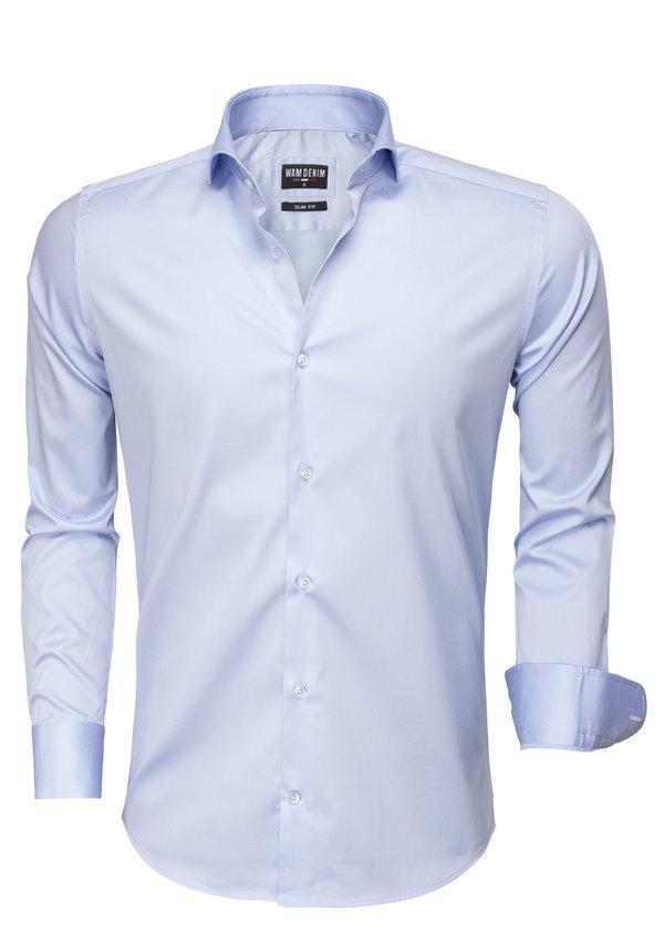 Overhemd Lange Mouw  75493 Blauw