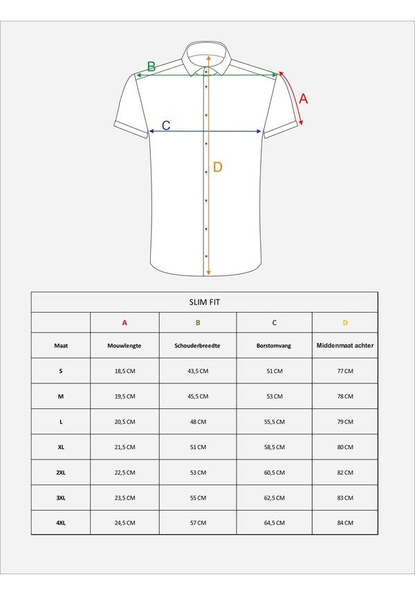 Overhemd Korte Mouw 75575 Taranto White