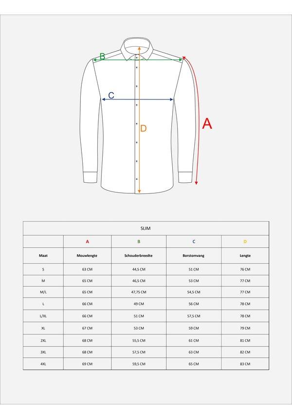Overhemd Lange Mouw 75510 White