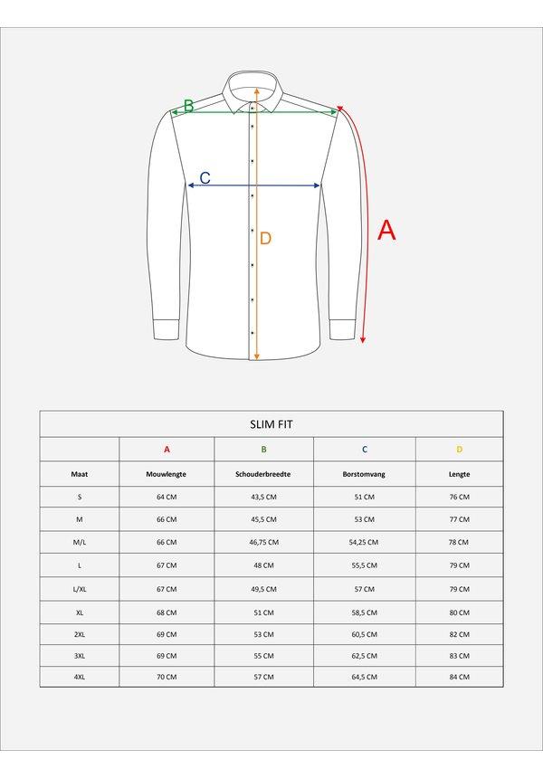 Overhemd Lange Mouw 75521 Navy