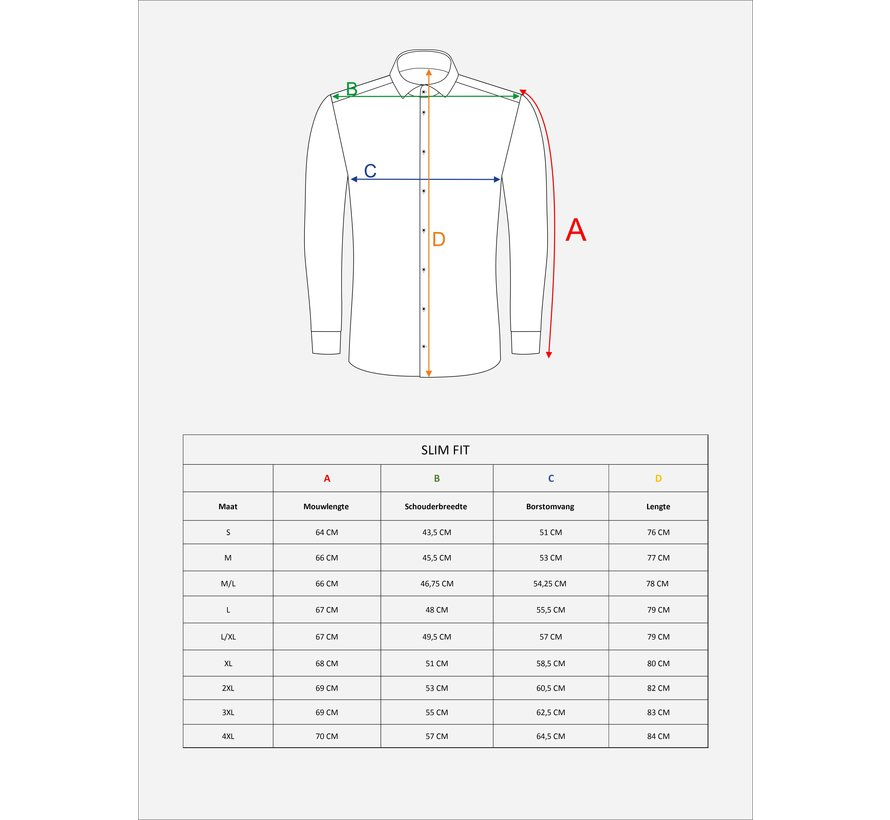 Overhemd Lange Mouw 75536 White