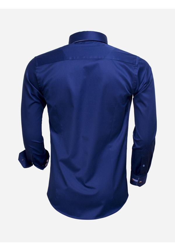 Overhemd Lange  Mouw 75530 Navy