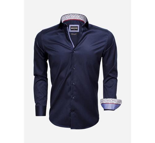 Wam Denim Overhemd Lange Mouw 75534 Dark Navy