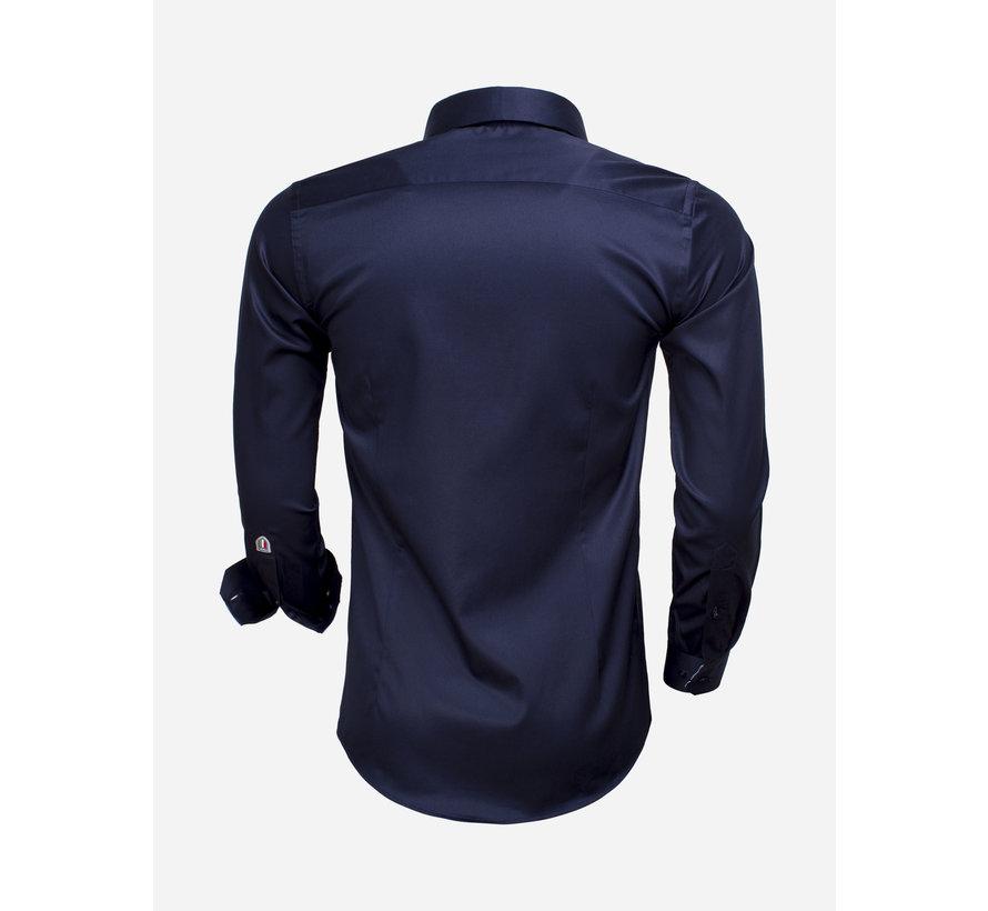 Overhemd Lange Mouw 75534 Dark Navy