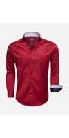 Overhemd  Lange Mouw 75534 Dark Red