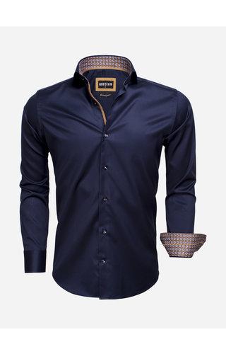 Wam Denim Overhemd Lange Mouw 75535 Dark Navy